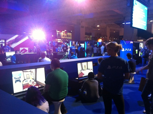 The PS4 stand was HUGE.