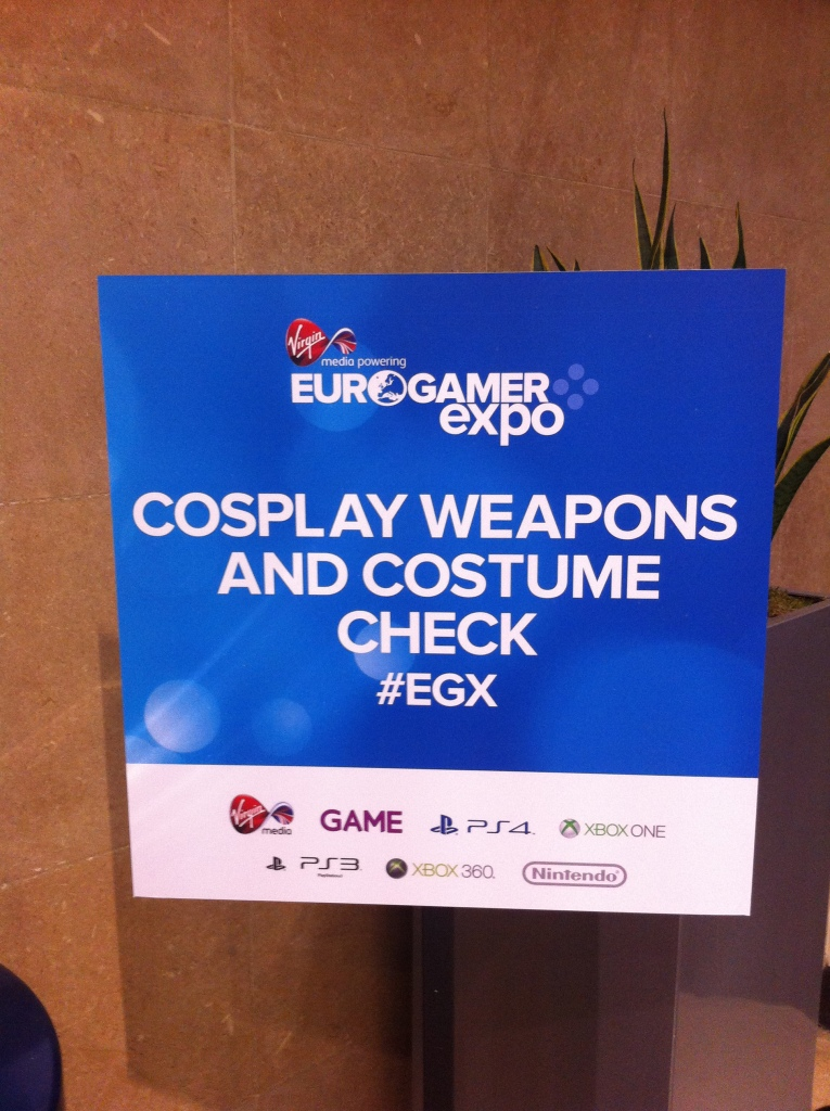 Just in case any of the cosplayers get carried away and bring in real weapons...