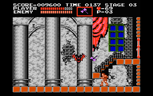 Welcome to the house of pain: the first boss in Castlevania.