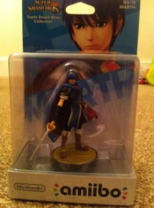 "Marth, the second, hastily purchased Amiibo. ""Where is this going to end?"", I wonder."