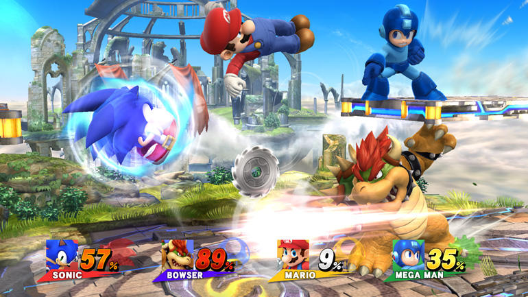 Sonic, Mega Man and Mario together in a game at last.