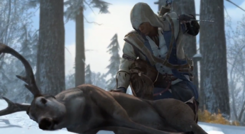 Hunting in Assassin's Creed III: like Red Dead Redemption, but not as good.