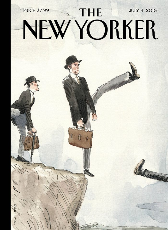 """Silly Walk Off a Cliff,"" by Barry Blitt (and yes, John Cleese was in favour of Leave)."