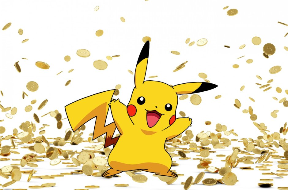 A suspiciously rich Pikachu.