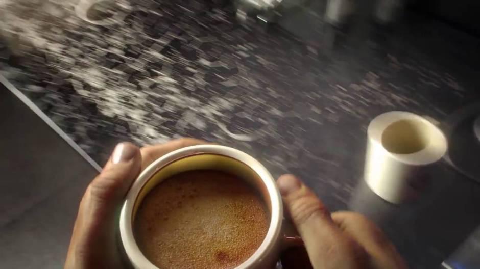 Next-gen coffee in the Prey trailer.