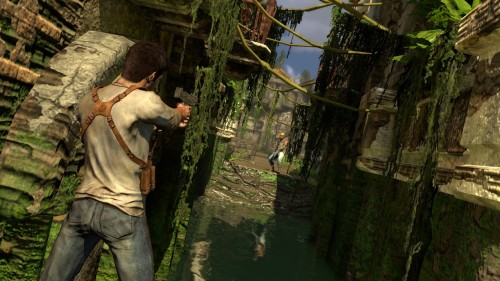 uncharted drakes fortune cover shooting