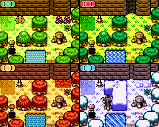 Changing the season in Oracle of Seasons is key to solving puzzles.